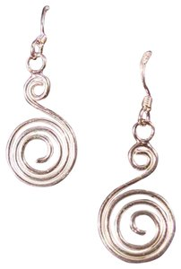 Other Sterling Silver Coiled Swirl Earrings .925