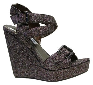 Not Rated Glitter Sparkle Shimmer Multi Wedges