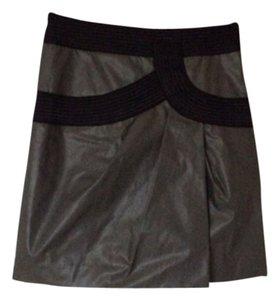 Robert Rodriguez Mini Skirt Dark Pewter and Black