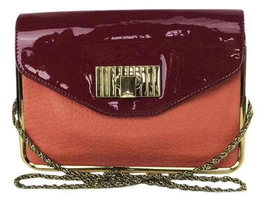 Preload https://img-static.tradesy.com/item/8584660/chloe-sally-and-shoulder-coral-lipstick-red-leather-clutch-0-2-540-540.jpg