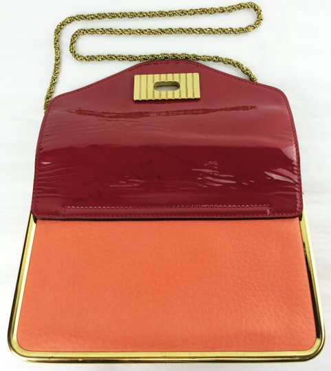 Chloé Sally Leather Coral /Lipstick (Red) Clutch Image 10