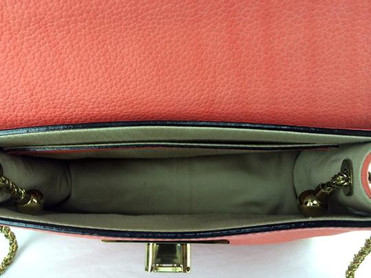 Chloé Sally Leather Coral /Lipstick (Red) Clutch Image 4
