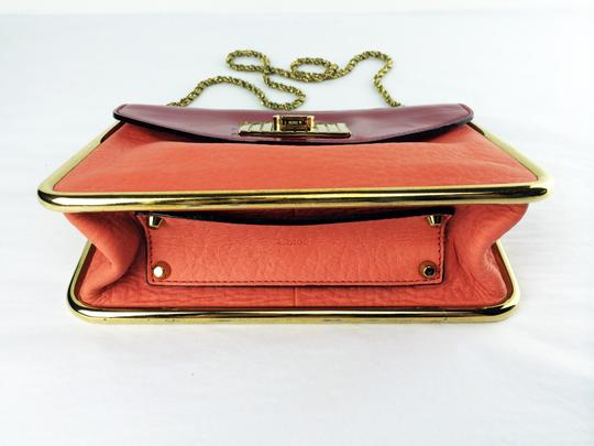 Chloé Sally Leather Coral /Lipstick (Red) Clutch Image 7