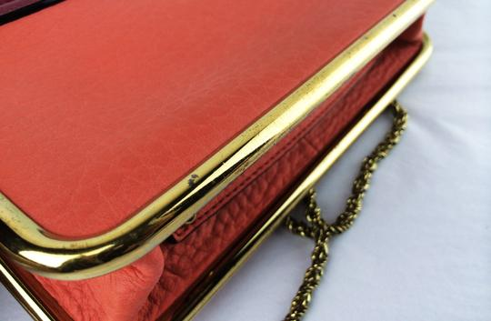 Chloé Sally Leather Coral /Lipstick (Red) Clutch Image 8
