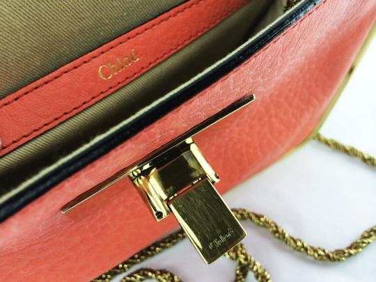 Chloé Sally Leather Coral /Lipstick (Red) Clutch Image 9