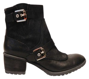 Donald J. Pliner J Buckle Black Boots