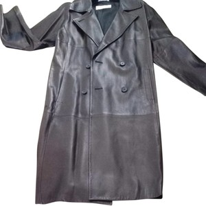 Max Mara Trench Leather Trench Coat