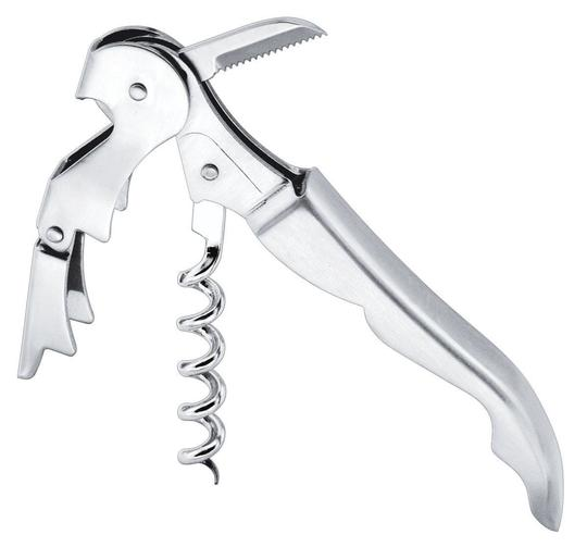 """Silver 10 Pieces - Professional Waiters """"Wine Key"""" Corkscrew Wine Opener Double Hinged Stainless Steel Party Event Tool Wedding Favors"""