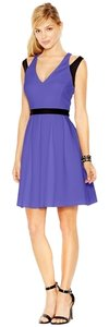 Jessica Simpson Contrast Sleeveless V-neck Flirty Fit & Flare Dress