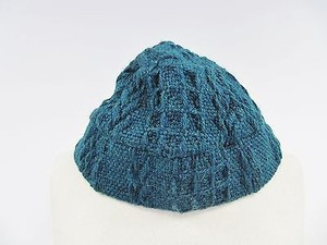 Uncle Branigan Weaves Green Blue Wool Cable Knit Bucket Hat
