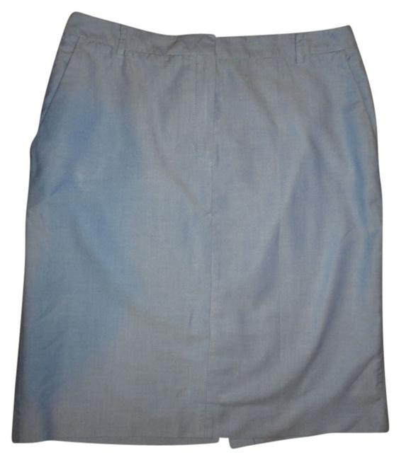 Brooks Brothers Pin Point Pencil Skirt BLUE