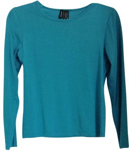 Lynn Ritchie Silk & Cotton T Shirt Turquoise