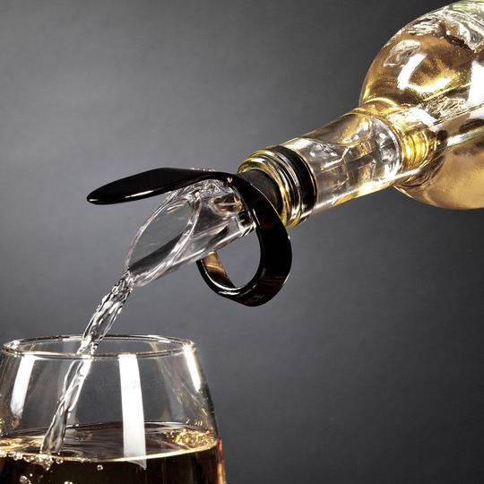 Chrome / Black 1 Piece - Stainless Steel Wine Beer Bottle Cooling Chill Ice Cool Freezer Stick Rod and Pourer Favor Barware
