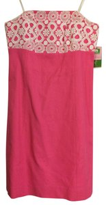 Lilly Pulitzer short dress Hotty Pink Lace on Tradesy