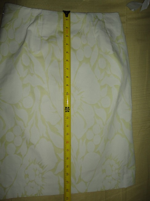J.Crew Floral Pencil Skirt YELLOW