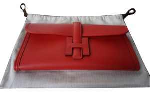 Hermès Vermillion Red Clutch