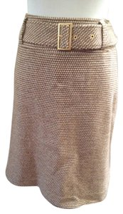 Basler Linning Wool Belt Skirt Brown beige