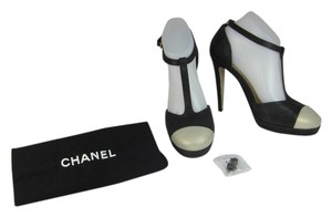 Chanel Cc Leather Heels Medallion Pumps
