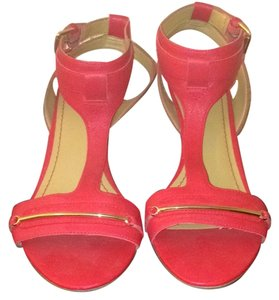 Nine West Red/orange gold details Sandals