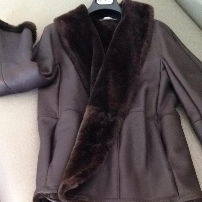 Max Mara Brown Leather Jacket