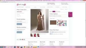 Alfred Angelo Brown Satin 7070 Formal Bridesmaid/Mob Dress Size 12 (L)