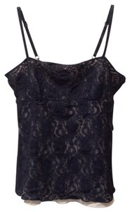 Sparkle & Fade Cami Lace Mesh Uo Top Black