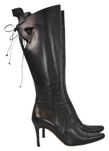 Valentino Heel Leather black Boots