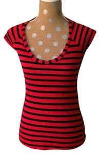 Splendid Striped Red T Shirt Red/Navy