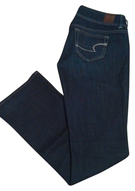 American Eagle Outfitters Ae Dark Wash Boot Cut Jeans-Dark Rinse