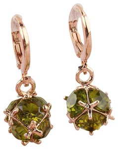 other New Fashion Women/Girl's 18k Yellow Gold Filled Green Zircon Dangle Earring Jewelry