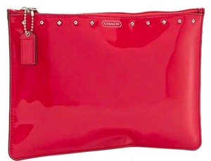 Coach Coach Studded Liquid Gloss Medium Tech Pouch in Patent Leather F68376 NWT