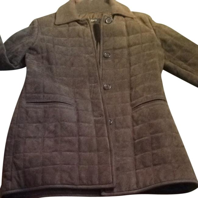 Bruno Magli Suede Brown Leather Jacket