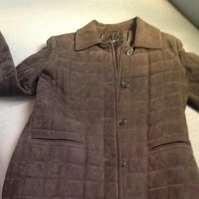 Bruno Magli Suede Brown Leather Jacket Image 1