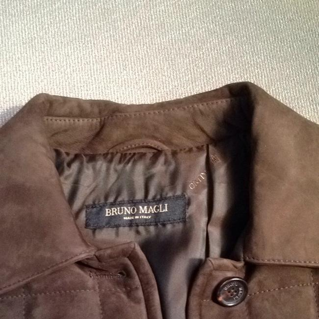 Bruno Magli Suede Brown Leather Jacket Image 2