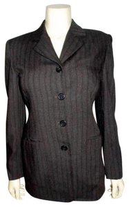 INC International Concepts Size 2 Jacket BLACK PIN STRIPED Blazer