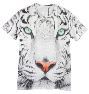 OASAP Sleeve Multi Sleeve Graphic Tees Graphic Tanks Printed Tees Tiger Back To School T Shirt as picture