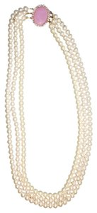 unknown Triple strand Faux pearl with rhinestone
