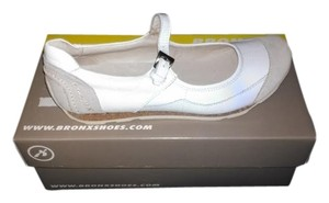 Bronx Leather Slip-on Casual White Flats