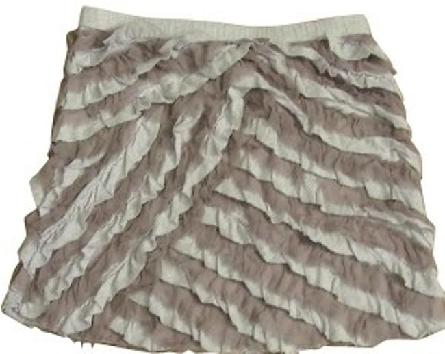J.Crew Mini Skirt Purple and beige
