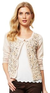 Anthropologie Beaded Sequin Sweatshirt Sz L Cardigan