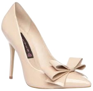 Steven by Steve Madden Paten Patent Leather Nude Pumps