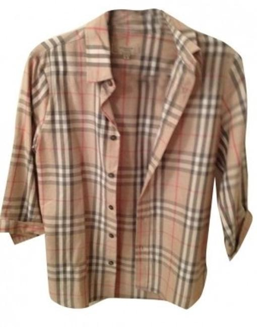Preload https://item2.tradesy.com/images/burberry-tan-button-down-top-size-8-m-8601-0-0.jpg?width=400&height=650