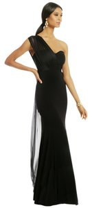 Carlos Miele Tie Jersey Silk One Shoulder Ball Gown Gown Full Length Dress
