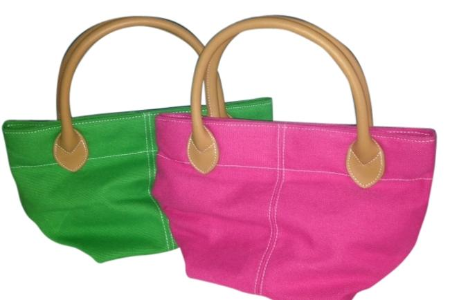 Item - Set Of Two Adorable Bags Rn # 61774 Pink and Green Tote