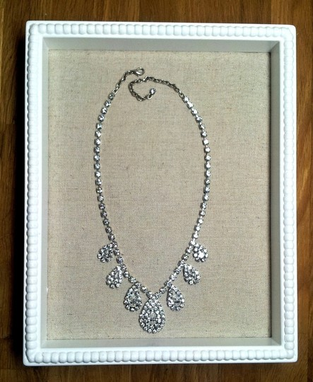 Vintage Crystal Great Gatsby Style Art Deco Rhinestone Teardrop Necklace