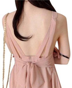 Other short dress Dusty Pink Spring Summer Chiffon Pink Cocktail Night Out Night Out Sleeveless Show Off Back Back Showing Cute Cute Pretty on Tradesy