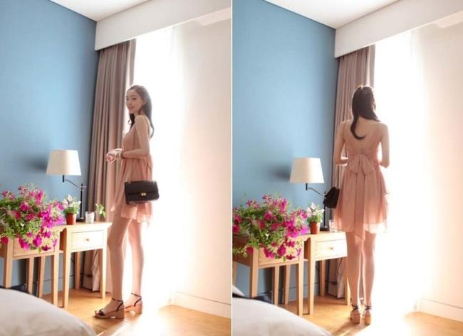 Other short dress Dusty Pink Summer Chiffon Cocktail Night Out Night Out Sleeveless Show Off Back Back Showing Cute Cute Pretty Chiffon V on Tradesy Image 4