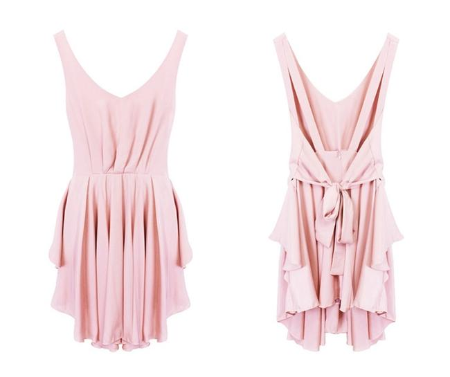 Other short dress Dusty Pink Summer Chiffon Cocktail Night Out Night Out Sleeveless Show Off Back Back Showing Cute Cute Pretty Chiffon V on Tradesy Image 6