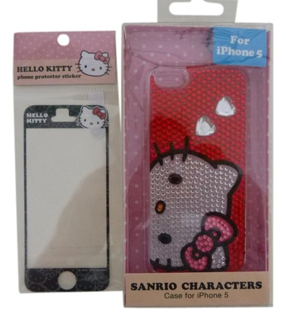 Item - Red Black White Pink Iphone 5 Case and Sticker Tech Accessory