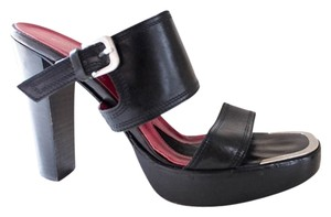 Donald J. Pliner Couture J. Leather Mules Black Platforms